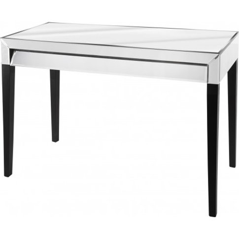 Bertoni Glass Console Table In Clear With 1 Drawer