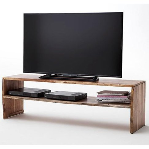 Birami Wooden Tv Stand In Walnut With 1 Compartment