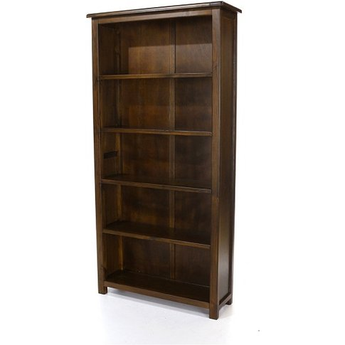 Biston Tall Bookcase In Dark Tinted Lacquer Finish