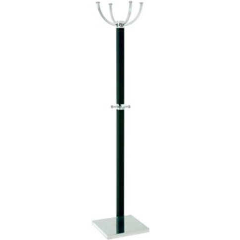 Ritmo Coat Stand In Black With Chrome Base