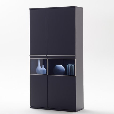 Black Collection Combination Display Cabinet With Le...