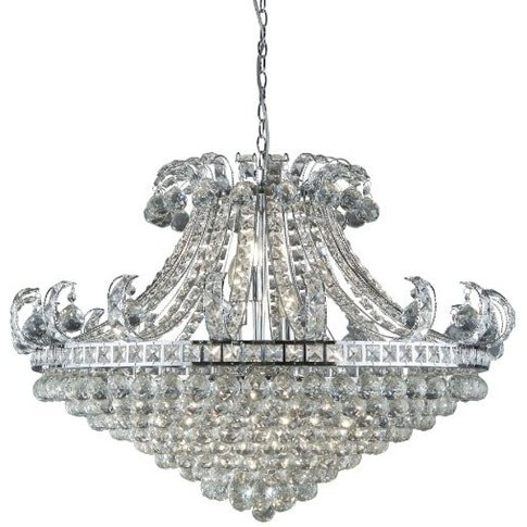 Bloomsbury 8 Light Chandelier In Chrome And Clear Cr...
