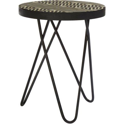 Algieba Metal Side Table In Black