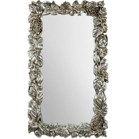 Boule Wall Mirror In Champagne With Garland Effect F...