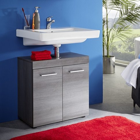 Britton Vanity Cabinet In Sardegna Smoke Silver With...