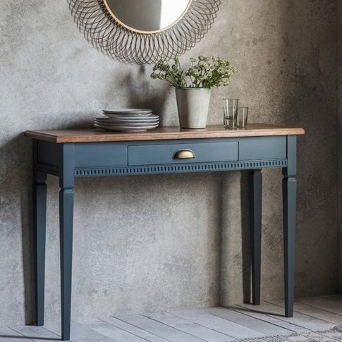 Bronte Console Table In Storm With 1 Drawer