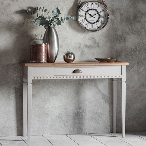Bronte Console Table In Taupe With 1 Drawer