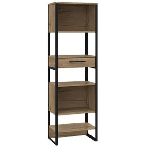 Brooklyn Tall Narrow Bookcase In Bleached Pine With ...