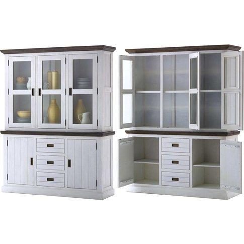 Gomera Buffet Dislay Cabinet In White Acacia