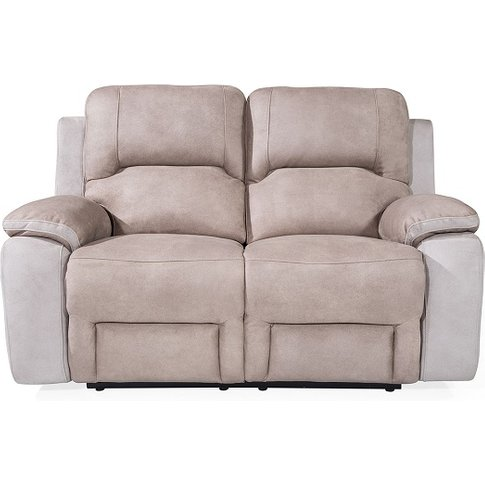Calais Fabric Recliner 2 Seater Sofa In Grey