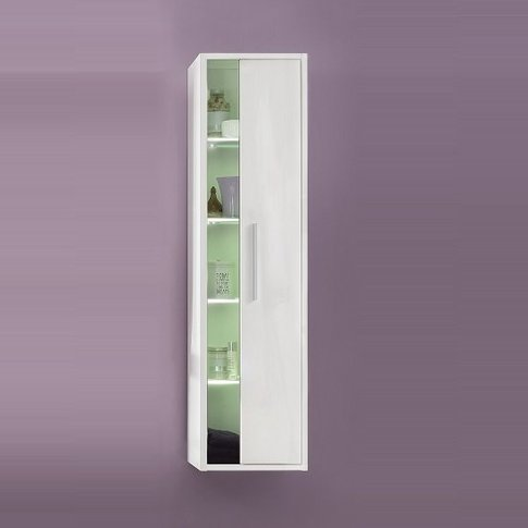 Campus Wall Mounted Bathroom Cabinet In High Gloss F...