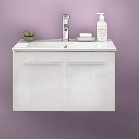 Campus Vanity Cabinet In High Gloss Fronts With Wash...