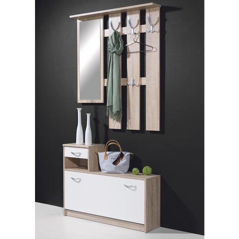 Wall Mount Hallway Stand Shoe Storage In Canadian Oa...