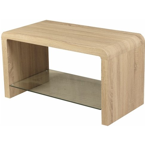 Cannock Wooden Coffee Table Rectangular In Sonoma Oak