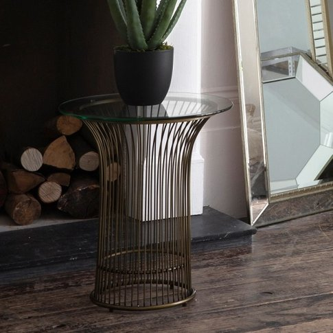 Caprico Contemporary Glass Side Table In Clear With ...