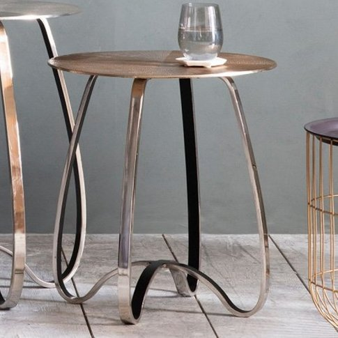 Carmel Metal Side Table In Gold