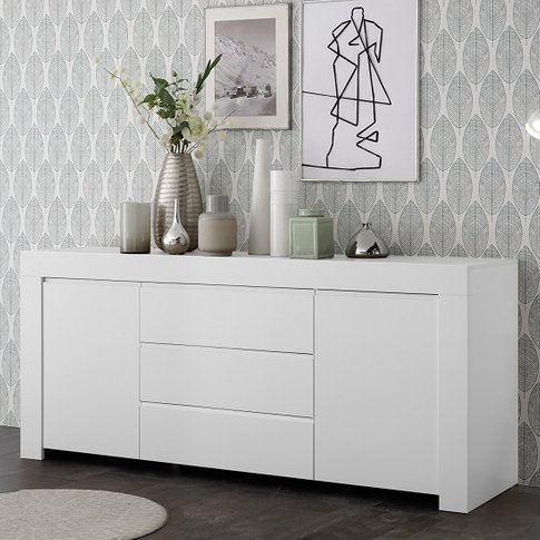 Carney Sideboard In Matt White With 2 Doors And 3 Dr...