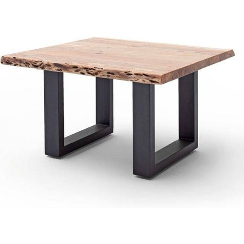 Cartagena Wooden Coffee Table In Natural With Anthracite Legs