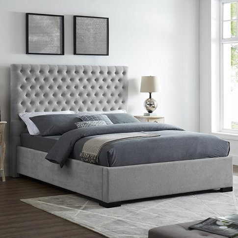 Cavendish Double Fabric Bed In Grey