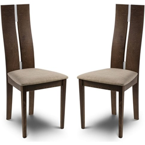 Cayman Solid Beech Dining Chair In Pair
