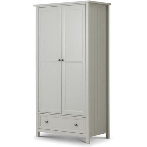 Cheshire Wooden Wardrobe In Dove Grey Lacquer With 2...