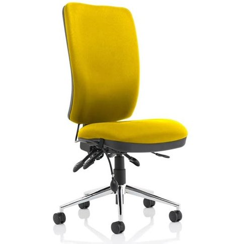 Chiro High Back Office Chair In Senna Yellow No Arms