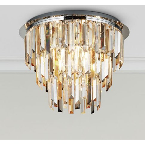 Clarissa 5 Ceiling Light In Chrome With Crystal Pris...