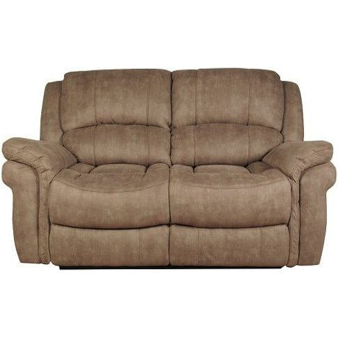 Claton Recliner 2 Seater Sofa In Taupe Leather Look ...