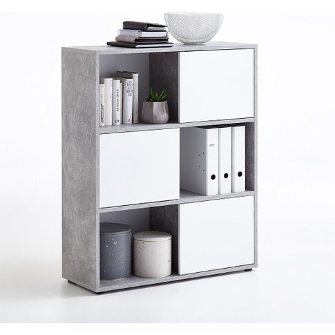 Cleator Shelving Unit In White High Gloss And Light ...