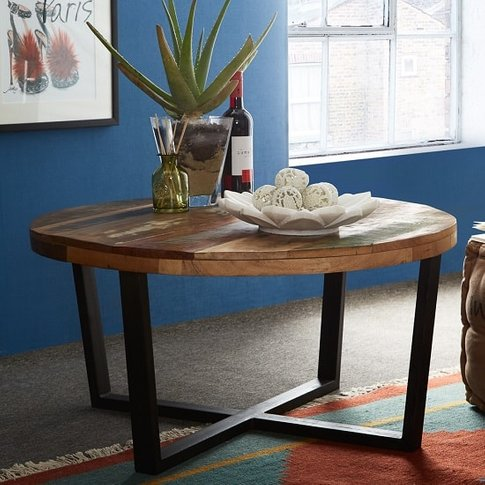 Coburg Wooden Coffee Table Round In Reclaimed Wood