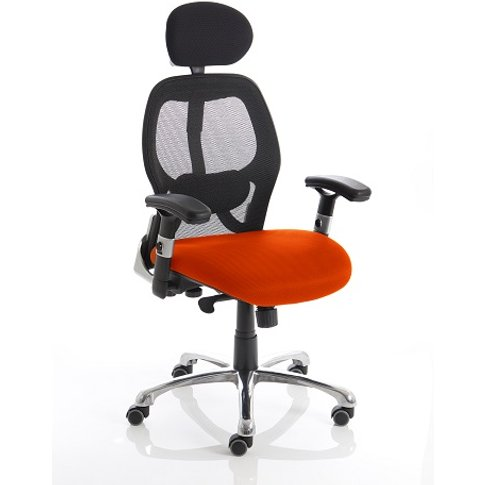 Coleen Home Office Chair In Pimento With Castors