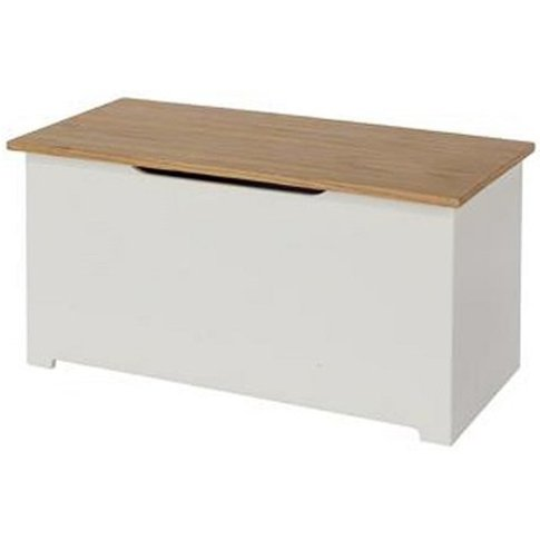 Colorida Ottoman Storage Box In White And Soft Cream