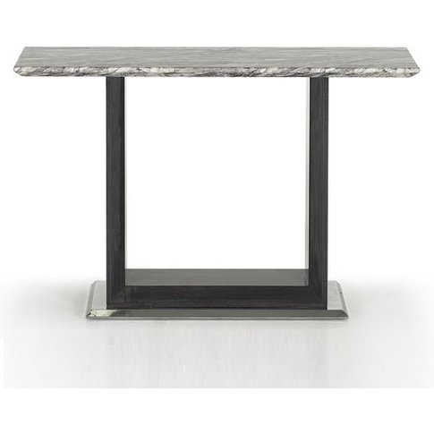 Connor Marble Console Table In Grey With High Gloss ...
