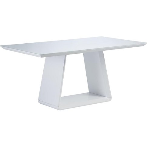 Conrad Glass Dining Table Rectangular In White And H...