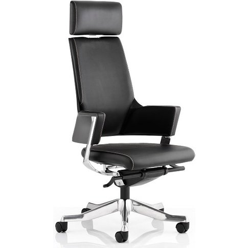 Cooper Office Chair In Black Bonded Leather With Hig...