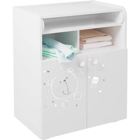 Corfu Teddy Print Storage Cupboard With Changing Top...