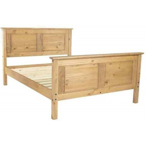 Corina King Size High Bed In Antique Wax Finish