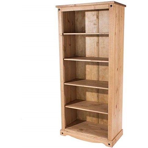 Corina Open Bookcase In Antique Wax Finish