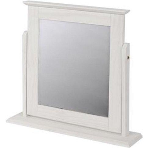 Corina Single Mirror In White Washed Wax Finish