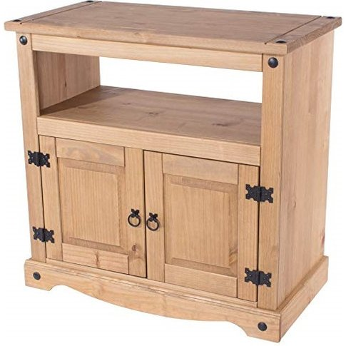 Corina Wooden TV Stand In Antique Wax Finish