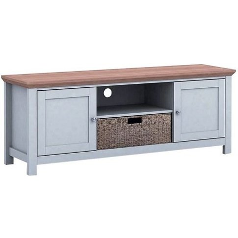 Cornet Wooden Tv Stand In Grey And Oak Finish
