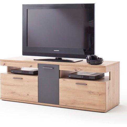 Cortona Wooden Small Tv Unit In Planked Oak