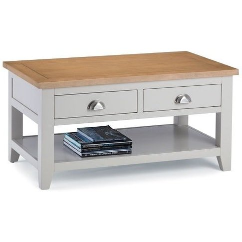 Christie Wooden Coffee Table Rectangular In Oak Top ...