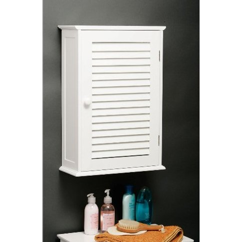 Custom Wooden Bathroom Wall Cabinet In White With 1 ...