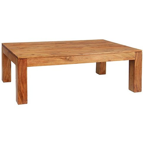 Cygni Solid Acacia Coffee Table In Brushed Oak