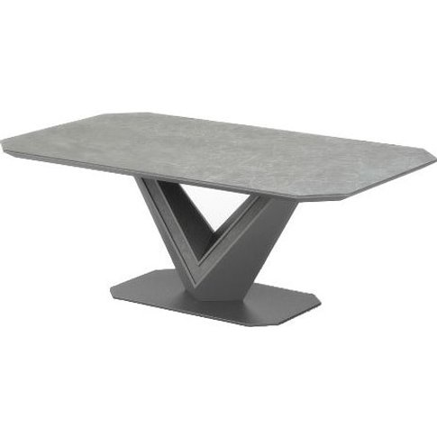 Cyprus Coffee Table In Grey Matt And Ceramic With St...