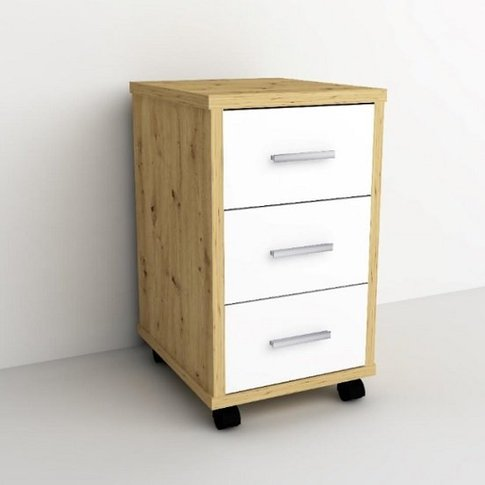Dalton Office Cabinet In Artisan Oak And White With ...