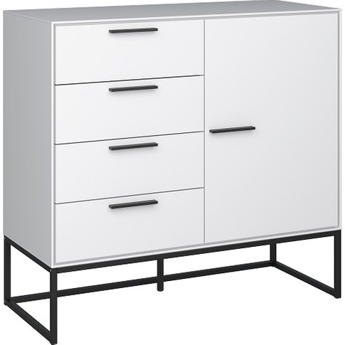 Dano Storage Cabinet In White With 1 Door And Metal ...