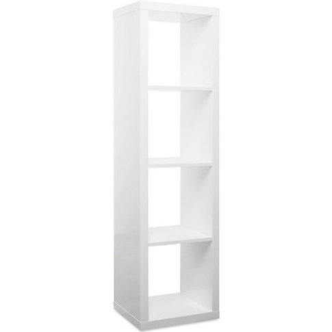 Darby Contemporary Shelving Unit In White High Gloss