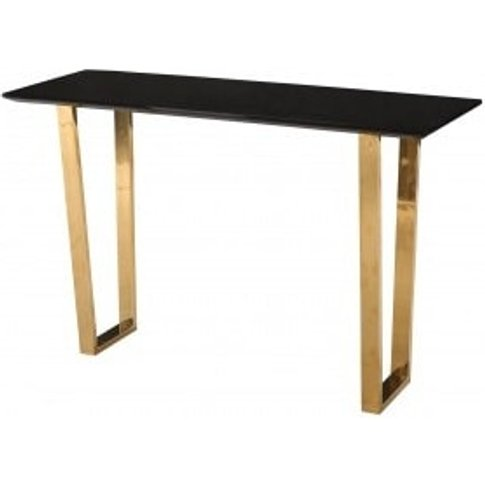 Daviel Console Table In Black High Gloss With Polish...
